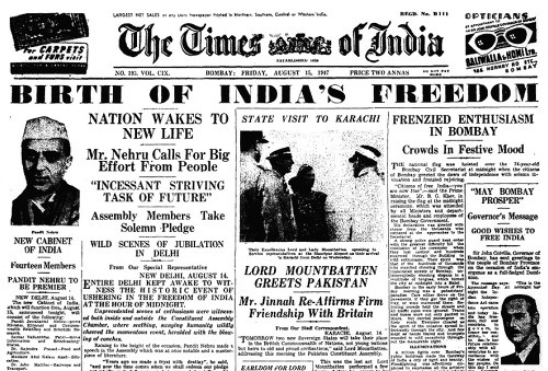 Times_of_India_front_Page_15_August_1947